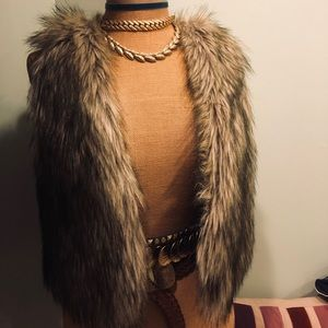 American Eagle Faux-Fur Vest